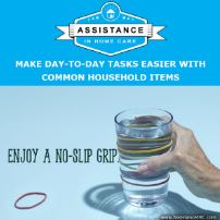 Caregiver Tips No Slip Grip Glasses and Containers